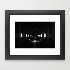 Night prayer Framed Art Print