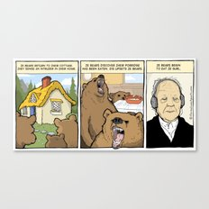 Werner and the Three Bears Canvas Print