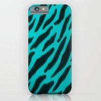 Aqua Zebra Print iPhone 6 Slim Case