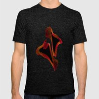 Let's Dance Mens Fitted Tee Tri-Black SMALL