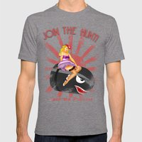 Princess Peach Pin Up Mens Fitted Tee Tri-Grey SMALL