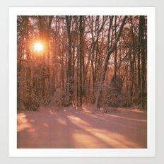 Sunrise in Winter Art Print