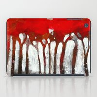 Red trees iPad Case