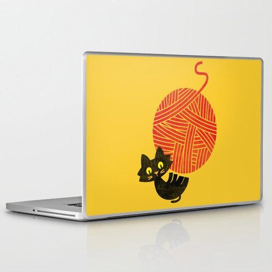 Fitz - Happiness (cat and yarn) Laptop & iPad Skin