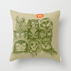 Wisdom to the Nines Throw Pillow