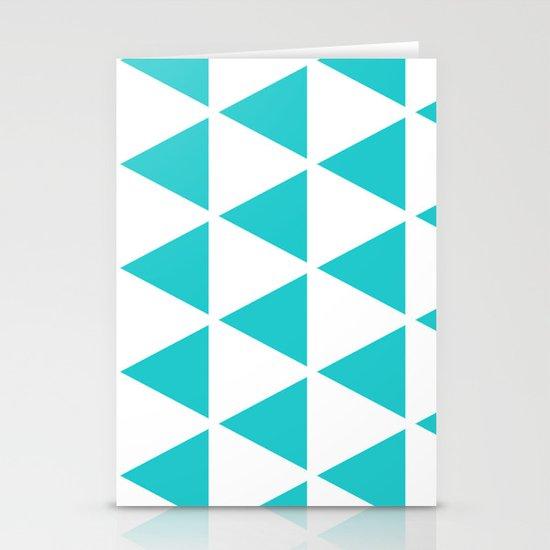 Sleyer Blue on White Pattern Stationery Card