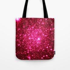Hot Pink Glitter Stars Tote Bag
