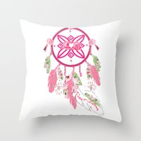 Shabby Chic Dream Catche… Throw Pillow