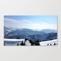 Snow Landscape In Austri… Canvas Print