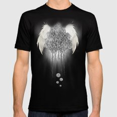 Angel of the chaos Mens Fitted Tee Black SMALL