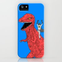 iPhone 5s & iPhone 5 Cases featuring Dinosaur B Forever by Joe Carr