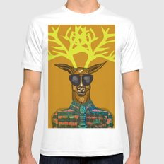 Oh Deer SMALL White Mens Fitted Tee
