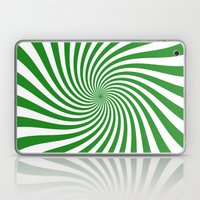 Swirl (Forest Green/White) Laptop & iPad Skin