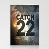 catch 22 textured Stationery Cards