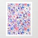 Wild Nature (Apricot, Blue) Art Print