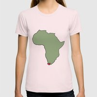 Ali Hearts Cape Town Womens Fitted Tee Light Pink SMALL