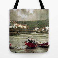 Staithes From The Harbour. Tote Bag
