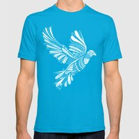PEACE Mens Fitted Tee Teal SMALL