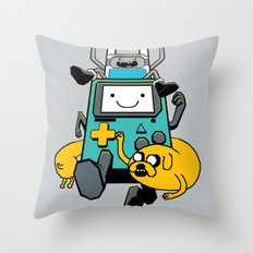 Portable Time! Throw Pillow