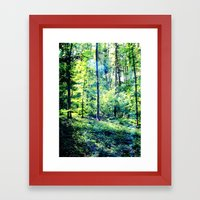 one summer day in the forest Framed Art Print