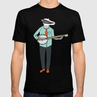 Banjo Badger Mens Fitted Tee Black SMALL