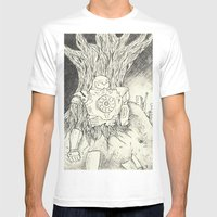 Litho Mecha Mens Fitted Tee White SMALL