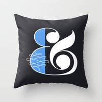 Ampersand Black Throw Pillow