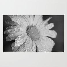 black and white flower II Rug