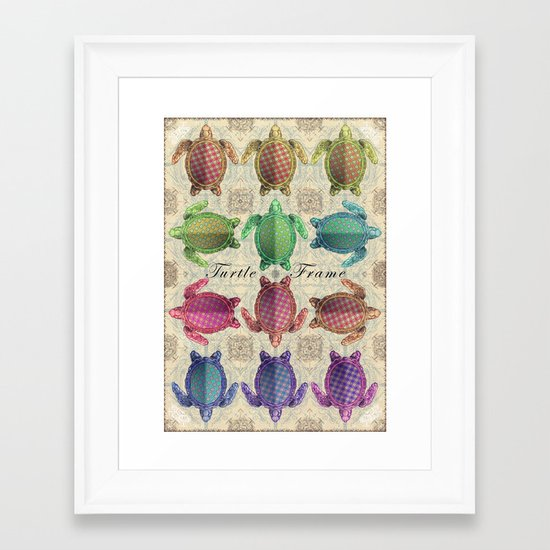 Turtle Frame Framed Art Print