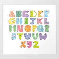 Dogs alphabet Art Print