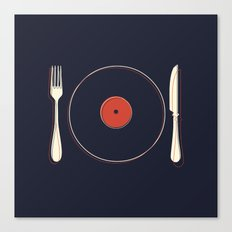 Vinyl Food Canvas Print