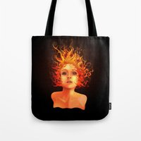 Flame Princess Tote Bag