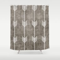 Shower Curtain featuring Dirty Arrows by Holli Zollinger