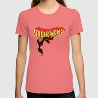 SpiderWoman Womens Fitted Tee Pomegranate SMALL
