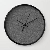 Abstract #002 Cells (Grey) Wall Clock