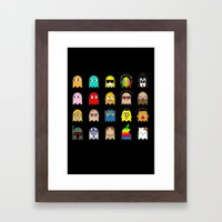 pac man Framed Art Print
