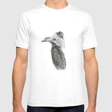 Fancy Hornbill SMALL White Mens Fitted Tee