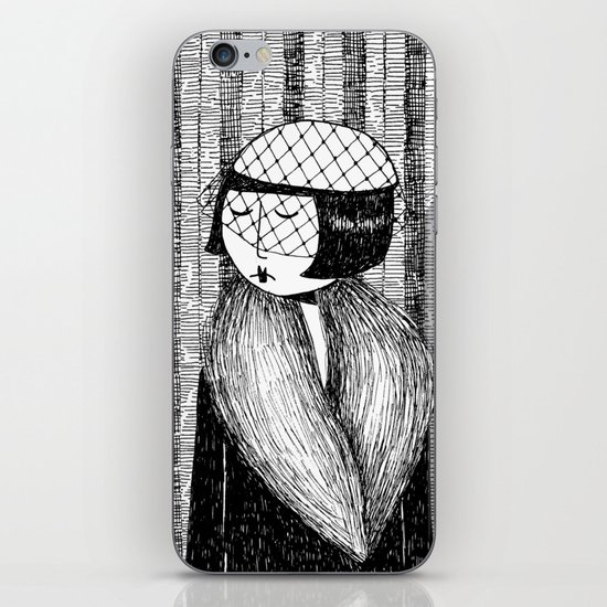 She thought of her cats and wished she was home iPhone & iPod Skin