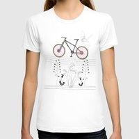 Photo Bicycle Womens Fitted Tee White SMALL