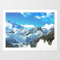 Experiment Am Berg 34 Art Print