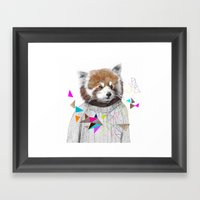 RED PANDA By Jamie Mitch… Framed Art Print