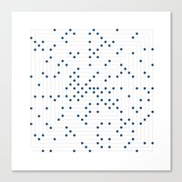 #548 Ulam spiral – Geometry Daily Canvas Print
