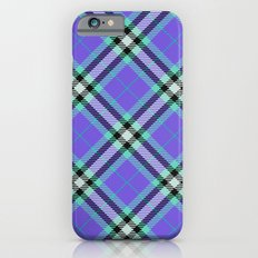 Purple blue and green plaid Slim Case iPhone 6s
