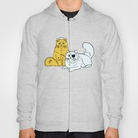 Navy Cats Hoody