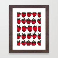 little strawberries Framed Art Print