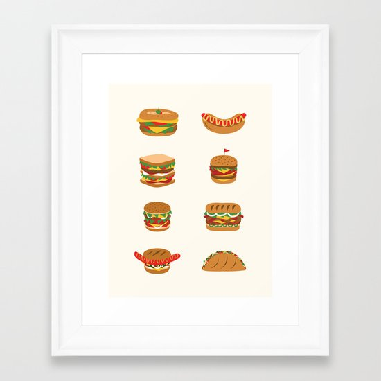 Stay hungry Framed Art Print