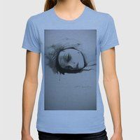 Sleeping Beauty Womens Fitted Tee Athletic Blue SMALL