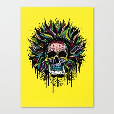 Magical Voodoo Skull Warrior Canvas Print