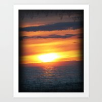 UP Sunset Art Print