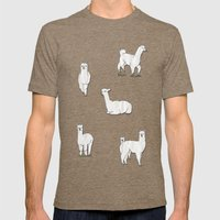 Alpaca Mens Fitted Tee Tri-Coffee SMALL